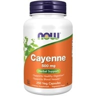 Image of NOW Foods - Cayenne 500 mg. - 250 Capsules