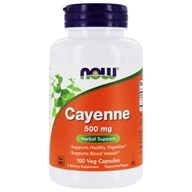 Image of NOW Foods - Cayenne 500 mg. - 100 Capsules