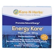 Kare-N-Herbs - Energy Kare - 40 Tablets, from category: Herbs