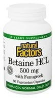 Natural Factors - Betaine Hydrochloride (HCL) - 90 Capsules - $7.77