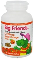 Natural Factors - Big Friends Chewable Vitamin C Tangy Orange Flavor 250 mg. - 90 Chewable Wafers