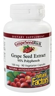 Natural Factors - GrapeSeedRich Grape Seed Extract 95% Polyphenols 100 mg. - 90 Capsules by Natural Factors