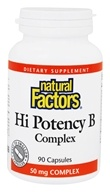 Natural Factors - Hi Potency B Complex - 90 Capsules - $8.37