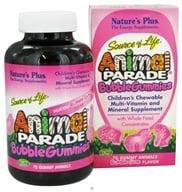 Nature's Plus - Source of Life Animal Parade Gummies Bubble Gum - 75 Gummies, from category: Vitamins & Minerals