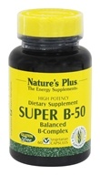 Nature's Plus - Super B-50 Balanced B Complex - 60 Vegetarian Capsules, from category: Vitamins & Minerals