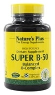 Nature's Plus - Super B-50 Balanced B Complex - 90 Vegetarian Capsules (097467013209)