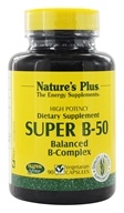 Nature's Plus - Super B-50 Balanced B Complex - 90 Vegetarian Capsules - $12.42