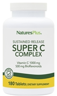 Nature's Plus - Super C Complex Sustained Release 1000 mg. - 180 Tablets - $30.59