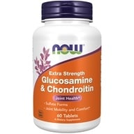 NOW Foods - Glucosamine and Chondroitin Sulfate Extra Strength Joint Health - 60 Tablets (733739032423)