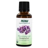 NOW Foods - 100% Pure & Organic Essential Oil Lavender - 1 fl. oz.