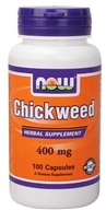 NOW Foods - Chickweed 400 mg. - 100 Capsules - $4.99