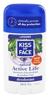 Kiss My Face - Natural Active Life Deodorant Stick Aluminum Free Lavender - 2.48 oz. (028367834618)