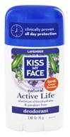 Image of Kiss My Face - Natural Active Life Deodorant Stick Aluminum Free Lavender - 2.48 oz.