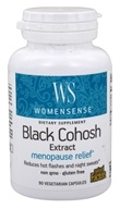 Natural Factors - WomenSense Black Cohosh Extract Menopausal Symptom Support 40 mg. - 90 Vegetarian Capsules