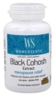 Natural Factors - WomenSense Black Cohosh Extract Menopausal Symptom Support 40 mg. - 90 Vegetarian Capsules by Natural Factors