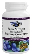 Natural Factors - Blue Rich Super Strength Blueberry Concentrate - 90 Softgels by Natural Factors