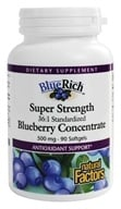 Natural Factors - Blue Rich Super Strength Blueberry Concentrate - 90 Softgels (068958045160)