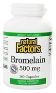 Image of Natural Factors - Bromelain 500 mg. - 180 Capsules