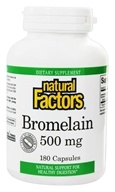 Natural Factors - Bromelain 500 mg. - 180 Capsules - $21.57