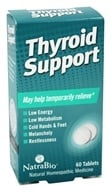 NatraBio - Thyroid Support - 60 Tablets, from category: Homeopathy