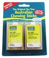Image of Thursday Plantation - The Original Australian Tea Tree Chewing Sticks (Toothpicks) Twin Pack Special Cinnamon Flavor + Original - 200 Stick(s)