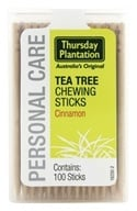 Image of Thursday Plantation - The Original Australian Tea Tree Chewing Sticks (Toothpicks) Cinnamon Flavor - 100 Stick(s)