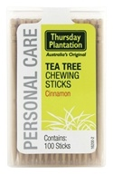 Thursday Plantation - The Original Australian Tea Tree Chewing Sticks (Toothpicks) Cinnamon Flavor - 100 Stick(s) (717554080906)