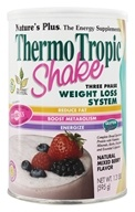 Image of Nature's Plus - Thermo Tropic Shake Three Phase Weight Loss System Mixed Berry Flavor - 1 lb.