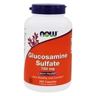 NOW Foods - Glucosamine Sulfate (Superior Joint Support) 750 mg. - 240 Capsules by NOW Foods