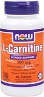 NOW Foods - L-Carnitine 500 mg. - 60 Tablets, from category: Nutritional Supplements