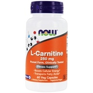 NOW Foods - L-Carnitine Pharmaceutical Grade 250 mg. - 60 Capsules (733739000620)