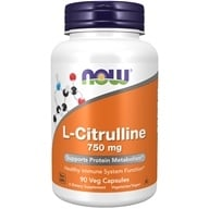Image of NOW Foods - L-Citrulline Cardiovascular Health 750 mg. - 90 Capsules