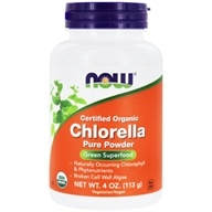 NOW Foods - Chlorella Pure Powder Certified Organic - 4 oz.