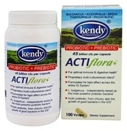 Kendy USA - Prebiotic Probiotic Symbiotic ActiFlora+ - 100 Capsules by Kendy USA