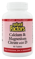 Natural Factors - Calcium & Magnesium Citrate With D - 90 Tablets - $7.31