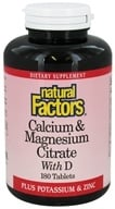 Natural Factors - Calcium & Magnesium Citrate With D - 180 Tablets (068958016085)