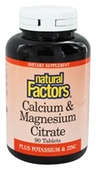 Natural Factors - Calcium & Magnesium Citrate - 90 Tablets (068958016184)