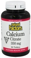 Natural Factors - Calcium Citrate 350 mg. - 90 Tablets
