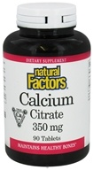 Natural Factors - Calcium Citrate 350 mg. - 90 Tablets (068958016115)