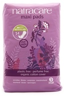 Image of Natracare - Organic Cotton Natural Feminine Maxi Pads Regular - 14 Pad(s)