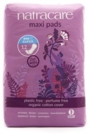 Image of Natracare - Organic Cotton Natural Feminine Maxi Pads Super - 12 Pad(s)