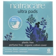 Natracare - Organic Cotton Natural Feminine Ultra Pads Super with Wings - 12 Pad(s) by Natracare