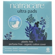 Natracare - Organic Cotton Natural Feminine Ultra Pads Super with Wings - 12 Pad(s) (782126003089)