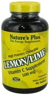 Nature's Plus - Vitamin C Chewable Lemon/Lime 500 mg. - 90 Chewable Tablets