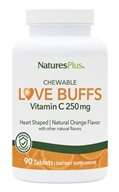 Nature's Plus - Love Buffs Chewable Buffered Vitamin C Natural Orange 250 mg. - 90 Tablets by Nature's Plus