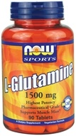 NOW Foods - Glutamine 1500 mg. - 90 Tablets - $15.39