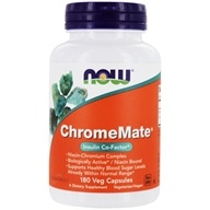 NOW Foods - ChromeMate Insulin Co-Factor - 180 Capsules, from category: Vitamins & Minerals