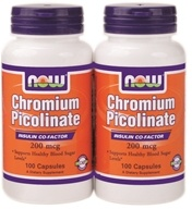 NOW Foods - Chromium Picolinate (100+100) Twin Pack Special 200 mcg. - 200 Capsules (733739014214)