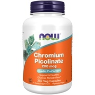 NOW Foods - Chromium Picolinate 200 mcg. - 250 Capsules - $7.75