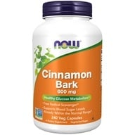 Image of NOW Foods - Cinnamon Bark 600 mg. - 240 Capsules